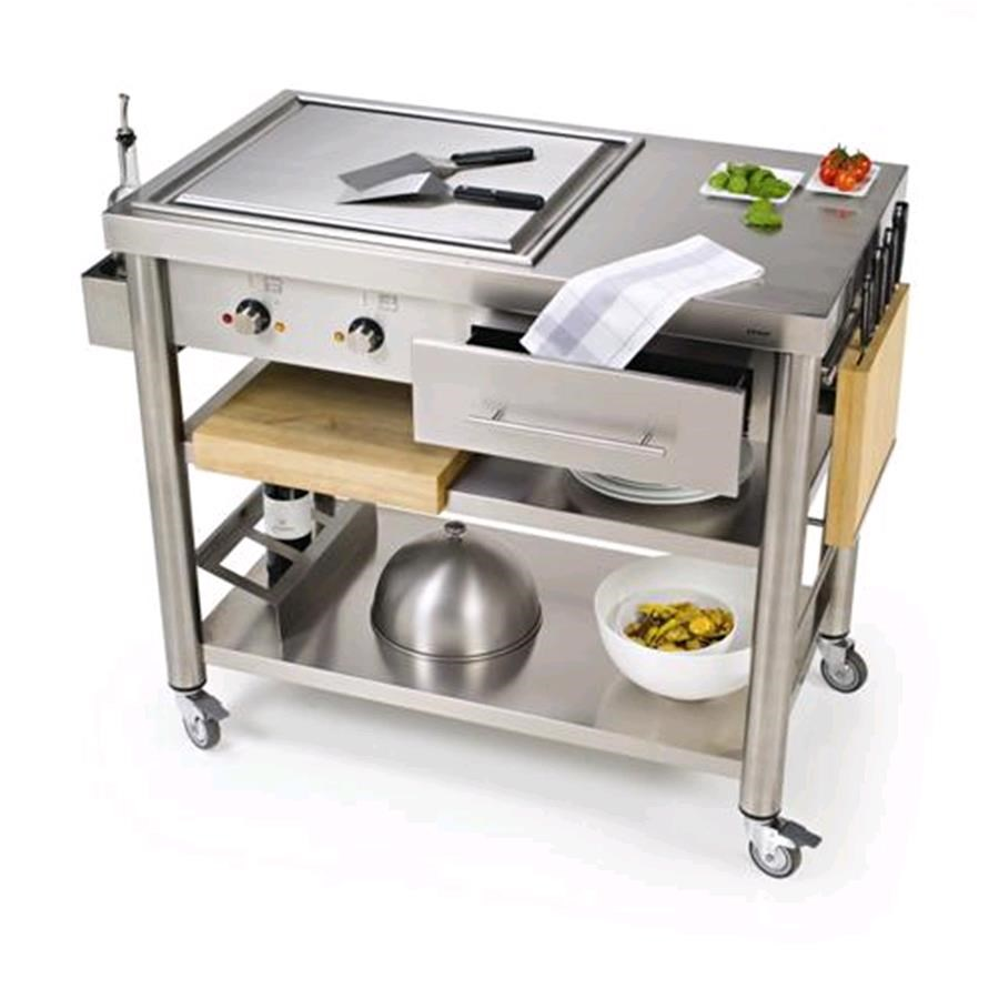 Carrello da cucina mod 697110 teppan yaki in acciaio in - Piastra elettrica ikea ...