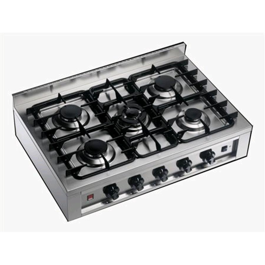 Fornellone 5 fuochi cod ekp 96 alimentazione gas for Dimensioni piano cottura