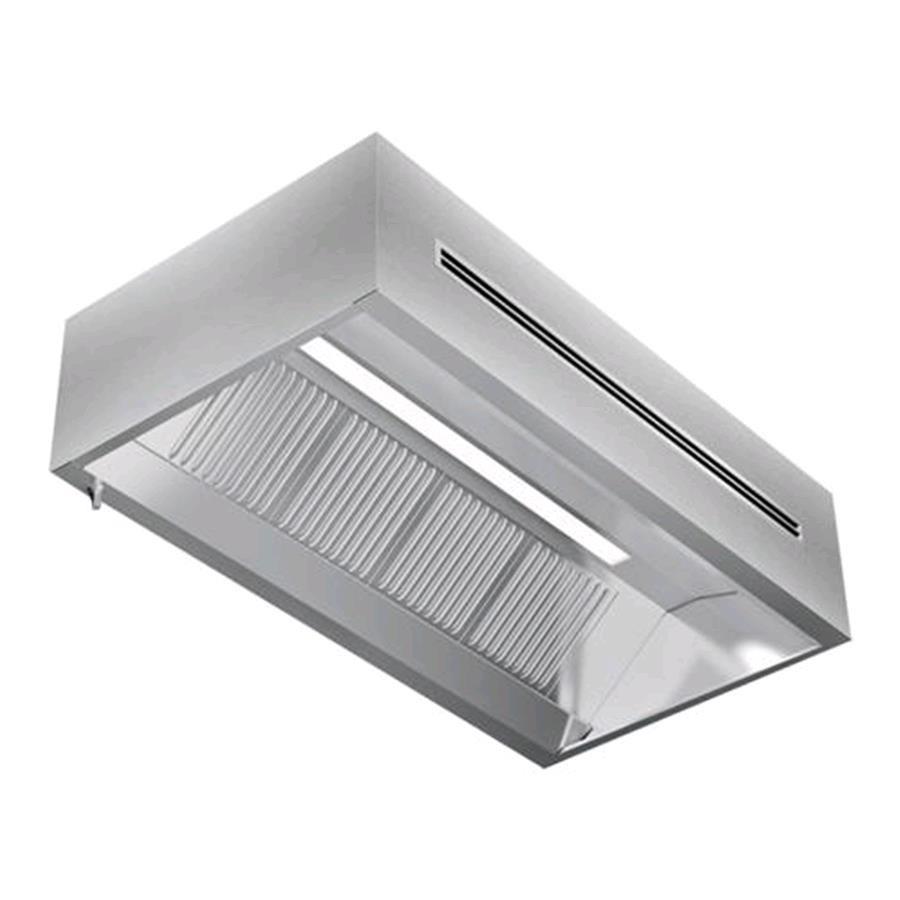 Cappa a parete in acciaio inox aisi 304 con filtri a for Cappa acciaio