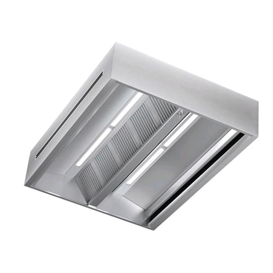 Cappa centrale in acciaio inox aisi 304 con filtri a for Cappa acciaio