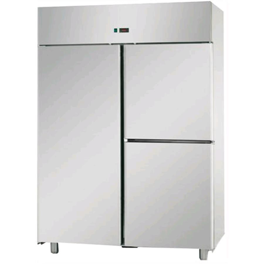 Armadio frigorifero congelatore in acciaio inox aisi 304 for Frigorifero 3 porte