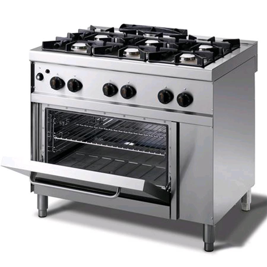 Cucina a gas mod n76gqgh n 6 fuochi forno a gas gn - Cucina forno a gas ...
