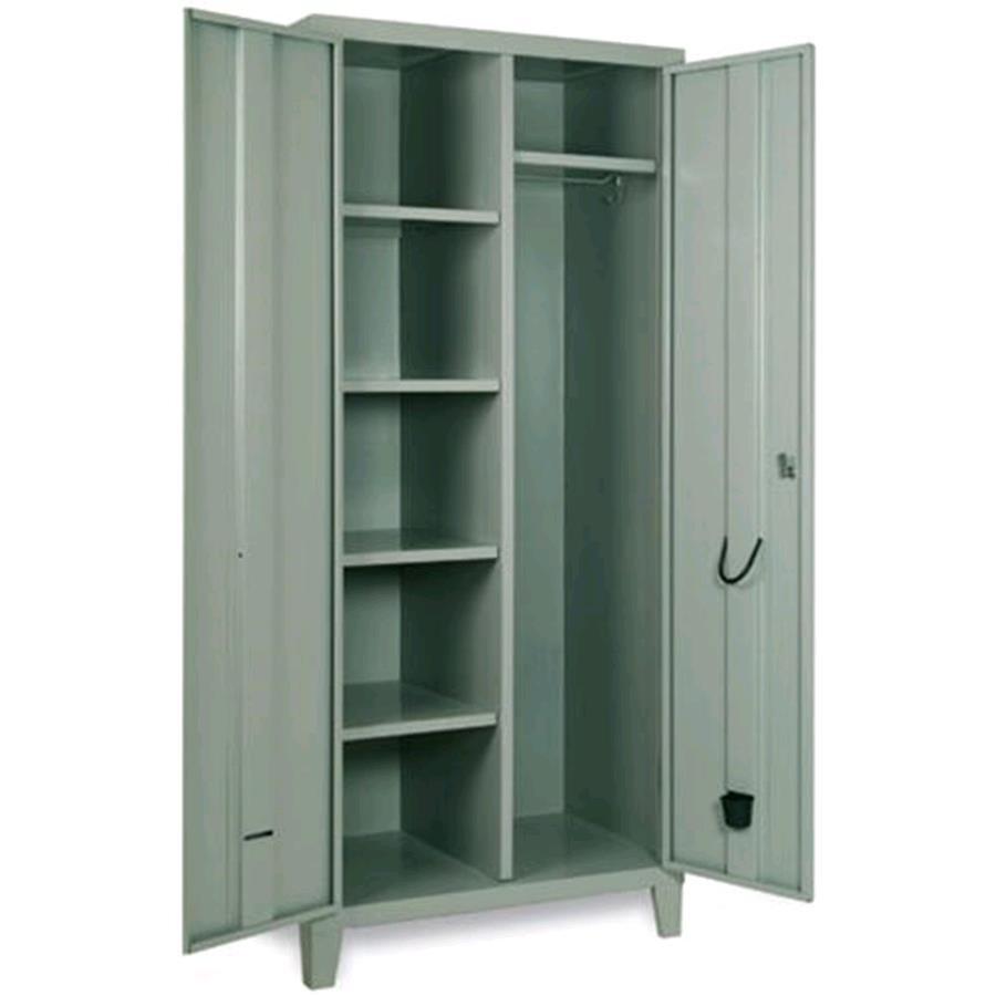 armadio guardaroba in metallo a due ante mod ext80p1v2 On armadio guardaroba