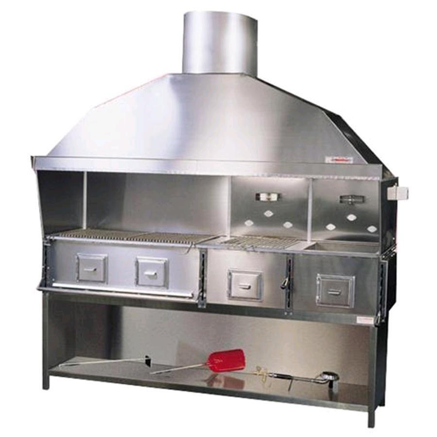 Cucina a carbone vegetale in acciaio inox n 4 fornelli co - Cucina in acciaio inox ...