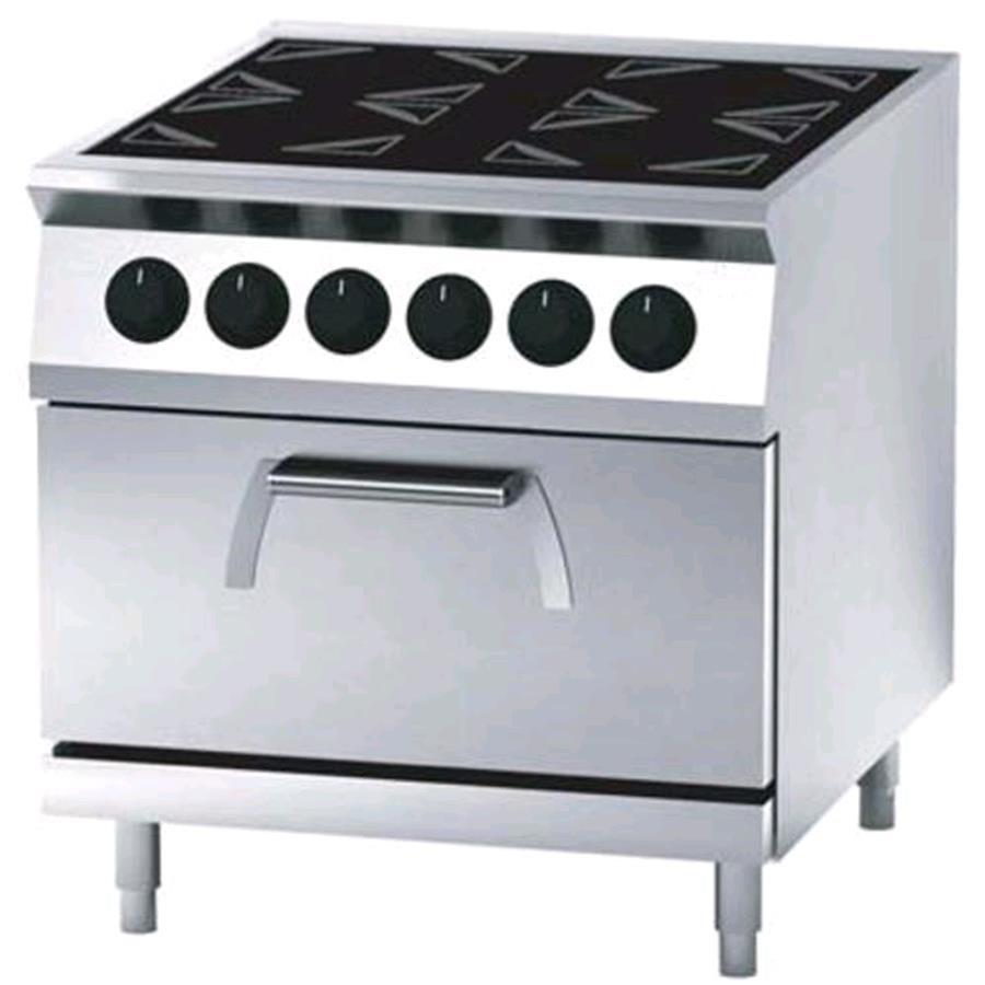 Cucina elettrica in vetroceramica 4 piastre con forno - Cucina con piastre e forno elettrico ...