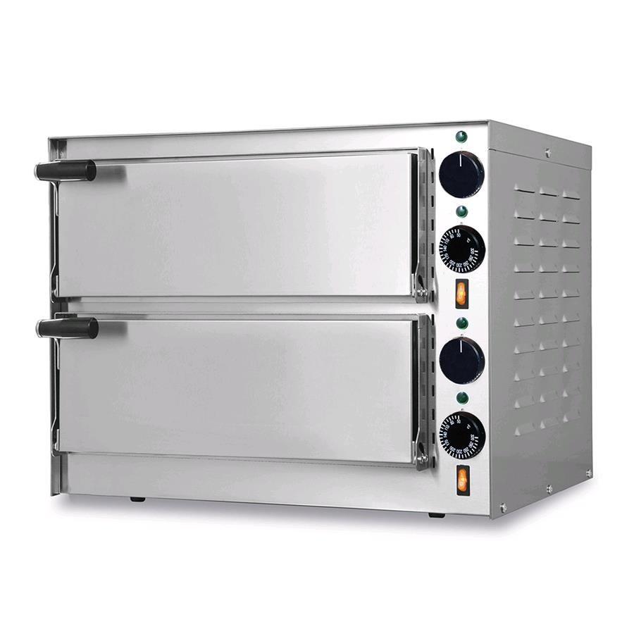 Forno elettrico per pizza mod little bis n 2 camere - Pietra per forno elettrico ...