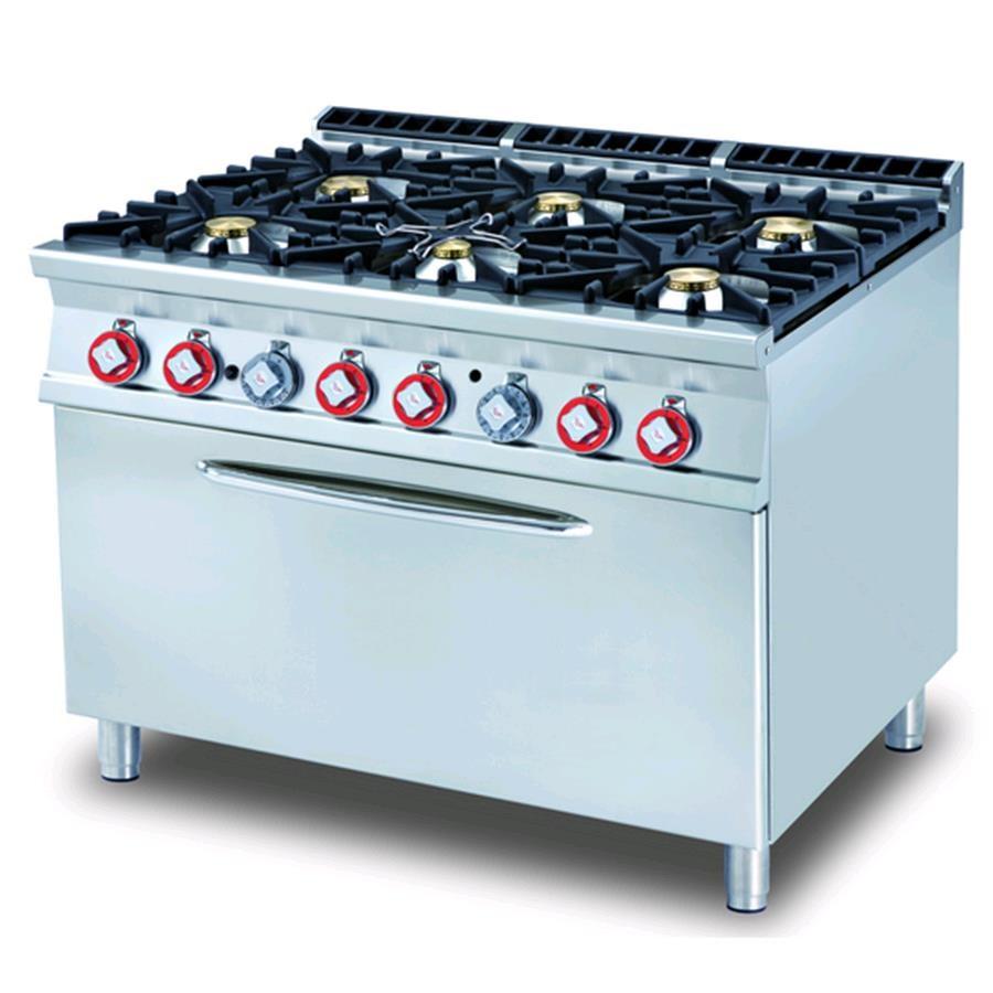 Cucina A Gas Mod Cf6 912g N 6 Fuochi Con Fiamma