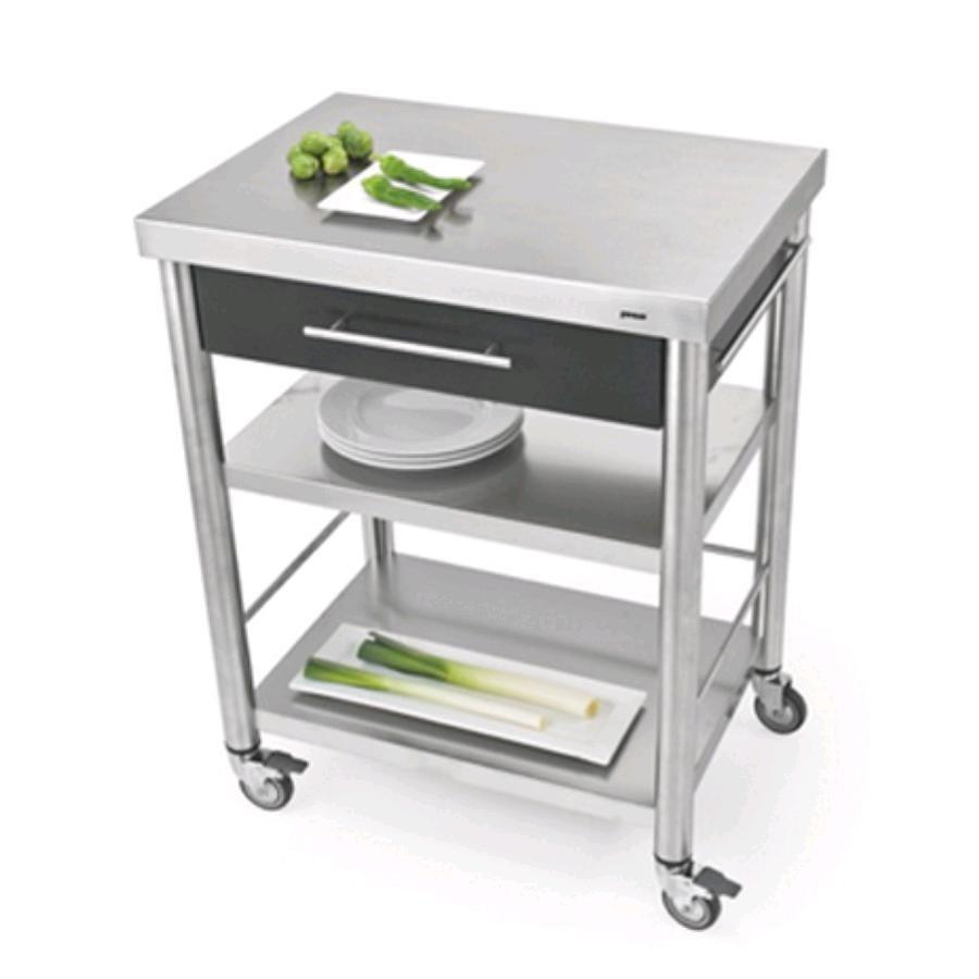 Carrello da cucina mod 689701 auxilium in acciaio inox copertur - Carrello cucina acciaio ...