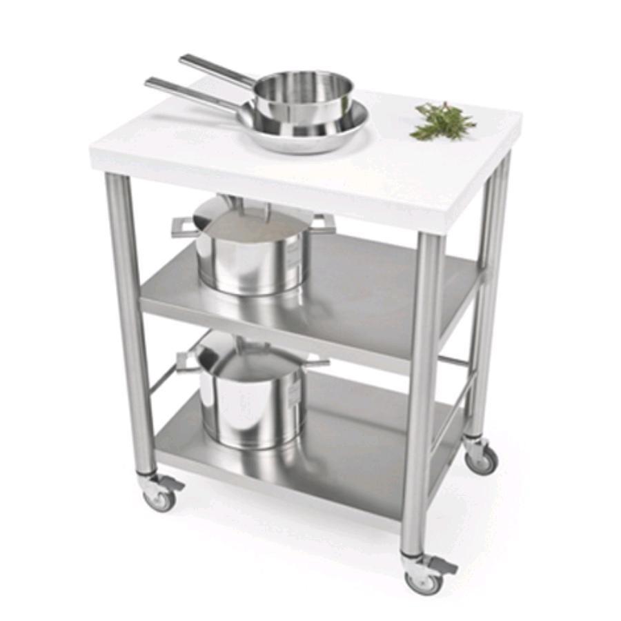 Carrello da cucina mod 690700 auxilium in acciaio - Piano cucina acciaio ...