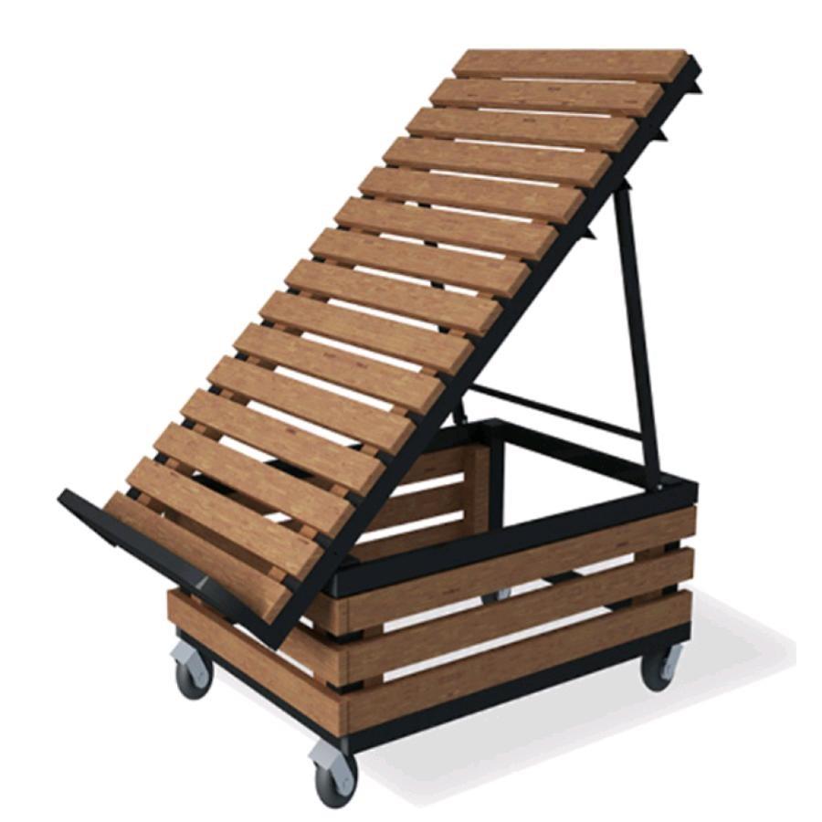 Espositore ortofrutta con doghe in legno mod ebe doghe for Arredamento macelleria usato