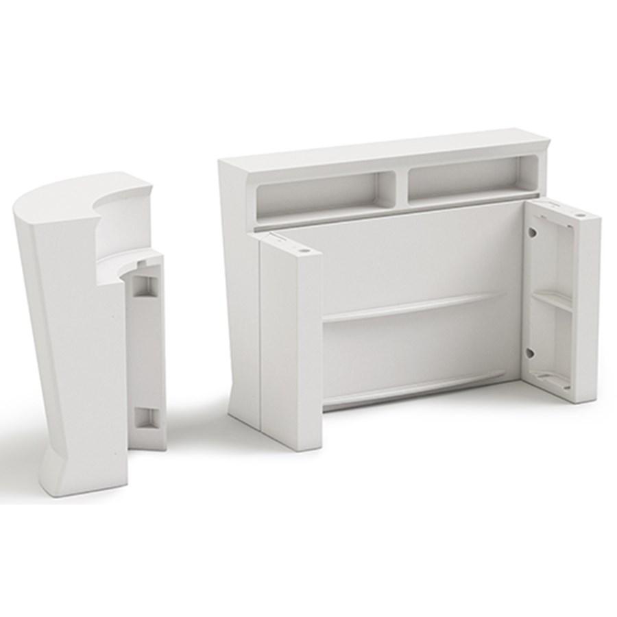Bancone Bar Da Giardino bancone bar per esterno - mod. marvy - struttura in polietilene - senza  luce, con luce a led o con kit rgbw - norma ce